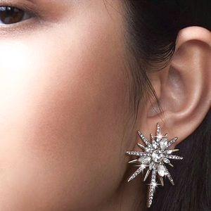 Any 2/$20! Gold & Crystal Starburst Stud Earrings